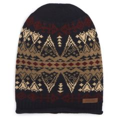 Women's Pendleton Slouchy Beanie ($40) ❤ liked on Polyvore featuring accessories, hats, arrow revival, slouchy beanie, slouch beanie hats, beanie caps, slouchy beanie hat and slouchy beanie cap