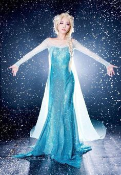 Frozen Elsa Queen Princess Blue Long Dress Women Costume for Cosplay Halloween | Clothing, Shoes & Accessories, Costumes, Reenactment, Theater, Costumes | eBay!