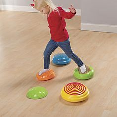 Sensory Stonez & Stepperz Balancing Toy: OSA Exclusive!  Take a hop, skip, and jump…to better balance! Kids love picking their way from one of these cushioned stepping stones to another, and there's no end to the obstacle courses they can create. Parents love that as kids play, they're building core strength, coordination, and balance.