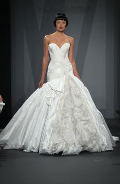 Sweetheart Princess/Ball Gown Wedding Dress  with Dropped Waist in Silk Taffeta. Bridal Gown Style Number:32818049