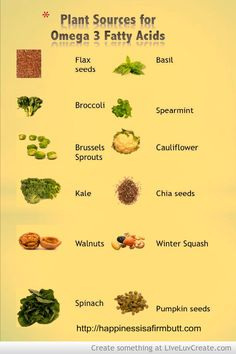 Plant sources for Omega 3 fatty acids