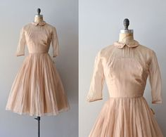 Jeunesse dress / vintage 1950s dress / 50s silk chiffon dress