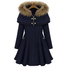 Stylish Hooded Long Sleeves Zippered Pocket Design Women's Coat
