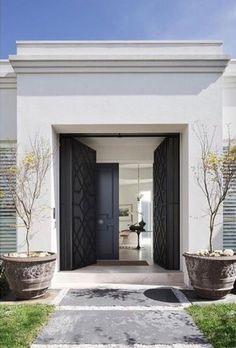 Entrance - Australia Modern Home Design by David Hicks- love the doors! House Entrance, Grand Entrance, Entrance Doors, Front Doors, Entrance Ideas, Door Ideas, Front Entry, Door Entry, Screen Doors