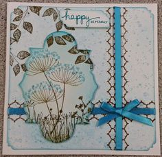 Make & Take card for 20th February, using Summer Silhouette set from Stampin Up
