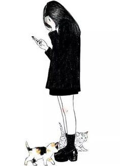 Trendy Photography Girl Drawing Black And White Ideas Crying Girl Drawing, Couple Wallpaper, Wallpaper Art, Tumblr Girls, Anime Art Girl, Sad Girl Art, Love Photography, Aesthetic Art, Art Inspo