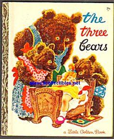 THE THREE BEARS Little Golden Book (Image1)