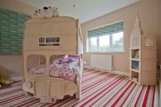 An outrageous double-decker bus bunk bed for kids. Amazing!