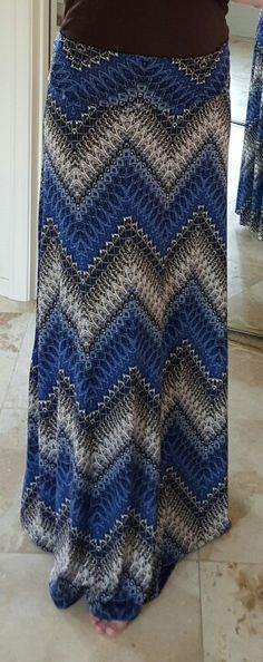 February 2016 stitch fix. Gilli Estelle Printed Maxi Skirt in blue print. $58 kept. I don't wear skirts often and I already have some maxi skirts that I don't wear much, but the color was so nice I decided to keep it.