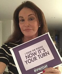 Advocate: Caitlyn showed her support for the cause last week with this selfie