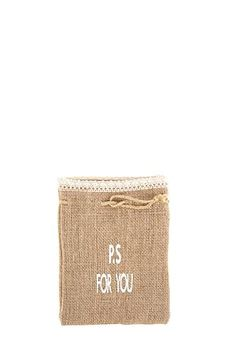 """This hessian favour bag with lace trim is perfect for any gift.<div class=""""pdpDescContent""""><BR /><b class=""""pdpDesc"""">Dimensions:</b><BR />L15xH20 cm</div>"""