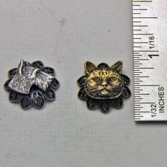 Vintage Metal Dog and Cat  Pendant Charms by oscarcrow on Etsy