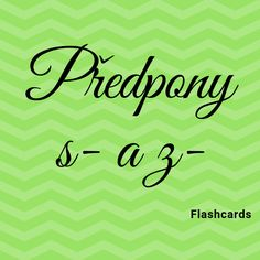 Flashcards předpony s- a z- Teaching, Education, Onderwijs, Learning, Tutorials