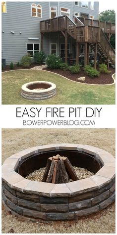 Well, actually that should be singular. As in…it's the pit. But we don't judge around here….not for spelin or gramerr;[! or cheesy jokes. Moving on. We showed you yesterday how we planned for our fire pit. It is the first big step in our backyard. Others…like a future pool willrequire a bit more money so …