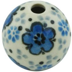 This Polish Pottery Stoneware Bead - is handmade and hand-painted by the Ceramika Artystyczna factory in Boleslawiec, Poland. How To Make Necklaces, Polish Pottery, Arts And Crafts Projects, Stoneware, Hand Painted, Beads, Creative, Handmade, Painting