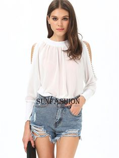 Cheap blouse material, Buy Quality blouse sequins directly from China clothing list Suppliers:                       Size Available :one size       Color :White       Style :Streetwear       Material :Polyest