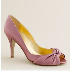 """FINAL PRICE DROP Carmen satin peep toe j crew A favorite party shoe sold out online j crew. Hand-knotted silk satin upper. Man-made lining and sole. 3 1/2"""" self-covered heel. Made in Italy. Sea foam color. Size 8.5 worn once. ⭐️Make me an offer⭐️ J. Crew Shoes"""