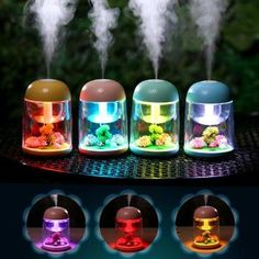 Ultrasonic Aroma Oil Therapy, Essential Oil Aroma Diffuser, Air Humidifier with LED Lights 180ml