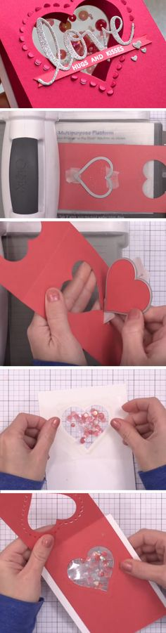 Confetti Heart Shaker | DIY Valentines Cards for Him | DIY Valentines Cards for Boyfriends