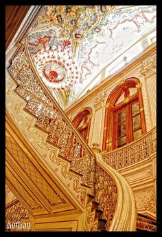 Dolmabahçe Palace, Istanbul, Turkey - I have walked these stairs!