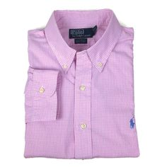 Ralph Lauren Polo Gingham Check Oxford Shirt Size 17 43 25 Chest Custom Fit