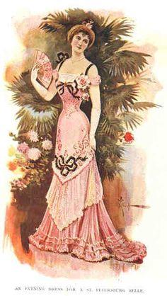 Evening dress, 1899 St Petersburg