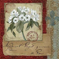 Damask Painting - La Boutanique 1 by Carol Robinson