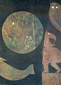 'Einige Tiere sind Analphabeten', 1973 von Max Ernst (1891-1976, Germany)