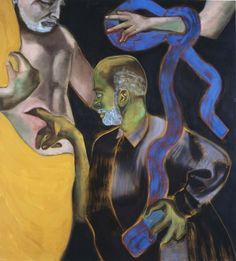 Francesco Clemente (Italian, b. 1952), Self-Portrait as St. Thomas, 2011. Oil on canvas, 48 x 43 in.