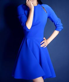 Hollow Out Beam Waist Plicated Ruffles Cotton Blend Solid Color Dress For Women (AS THE PICTURE,XL) | Sammydress.com
