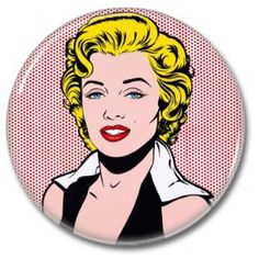 Marilyn Monroe button!  #badges #pins #buttons #botones #marilynmonroe