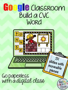 Increase phoneme segmentation, spelling, and reading skills with digital word work using this Google Classroom resource. Are you ready to go 1:1. Join the paperless movement and embrace technology in kindergarten