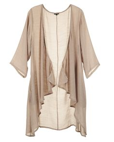 This lightweight cover up will keep you cozy and cute! the material is textured and the hemline is asymmetrical. Sleeves are length. Drape Cardigan, Hemline, Taupe, Duster Coat, Kimono Top, Cover Up, Cozy, Sleeves, Jackets