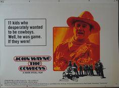 Cowboys John Wayne - Vintage movie poster