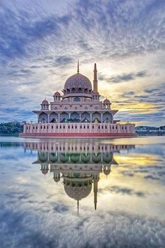 In Xanadu did Kublai Khan/ a stately pleasure dome decree/ where Alph the sacred river ran/ though caverns measureless to man/ down to a sunless sea... actually it's a mosque southeast of Kuala Lumpur, Malaysia. What a palace of dreams!