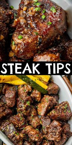 beef steak recipe Air Fryer Steak Tips are little steak bites that are well seasoned, then quickly cooked in the Air Fryer. Cooking the beef steak tips over high heat gives them the b Air Fryer Recipes Beef, Beef Tip Recipes, Air Frier Recipes, Air Fryer Dinner Recipes, Cooking Recipes, Easy Recipes, Ninja Recipes, Snacks Recipes, Beef Tips Recipe Oven