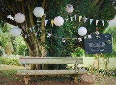 Photobooth  Mariage d'Elodie et Alexandre - Juin 2017 -  .  #Mariage #wedding #décoration #eyrignac #castellumtraiteur #catering #traiteur #carte #fleur #flower #thankyou #couple #love #photobooth Decor Photobooth, Wedding Reception, Reception Ideas, Decoration, Photo Booth, Dandelion, Plants, Couple, Gardens