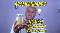 FERMENTO DE BATATA, FERMENTO CASEIRO ACOMPANHANDO A FERMENTAÇÃO e TIRAND...