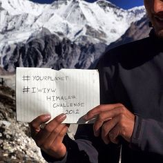 Check out @crowthercollective's incredible images from his #IWIYW 25 day Himalaya trek. Ashely did the trek to raise awareness of global glacier retreat. Accept his challenge and take part in the #YourPlanet project on #Instagram to inspire a better world.