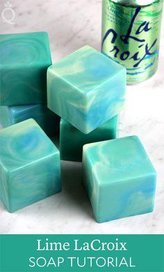 Lime LaCroix Cold Process Soap Tutorial