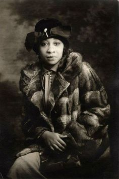Nora Douglas Holt - American musician and singer who composed over 200 pieces. In 1918 she was the first African American woman to earn her master's from Chicago Musical College. The photo is by an unidentified photographer