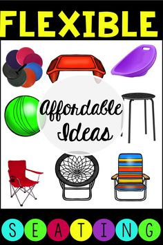 Lots of ideas and freebies that will help you implement flexible seating in your classroom!