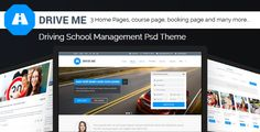 Buy Driveme - Driving School WordPress Theme by Jthemes on ThemeForest. What customers said about Driveme Driveme – Driving School WordPress Theme has been custom designed to suit any type. Template Wordpress, Tema Wordpress, Premium Wordpress Themes, Driving Class, Driving School, Online Themes, Creation Site, Team Page, Theme Template