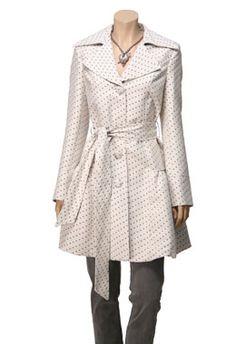 polka dots, trench coats, dot trench