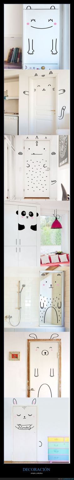 decorate the doors! such a sweet idea to add tons of personality to a child's room! #estella #kids #decor