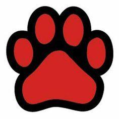 colourful red and white paw print background for your desktop rh pinterest com Bulldog Friendly Clip Art Bulldog Mascot Logos