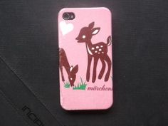 Lovely Deer on Christmas Decoupage case/ Classic style/ Vintage / for iPhone4 / iPhone4s / Cover case / Hard Case / Accessories / Smartphone on Etsy, ฿485.89