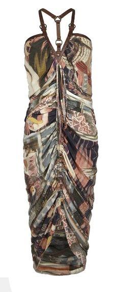 ALL SAINTS ENGLAND Suzetta Dress break pattern with long sweater