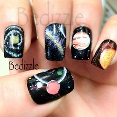 These galaxy nails from Bebe F. are crazy awesome!
