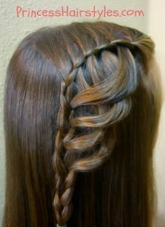"""Folded Feather Braid"" hairstyle tutorial"